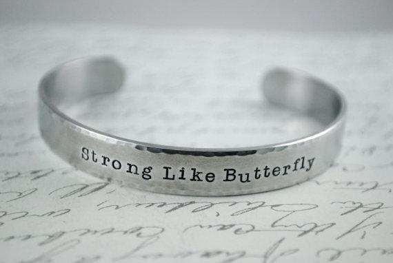 Strong Like Butterfly bracelet