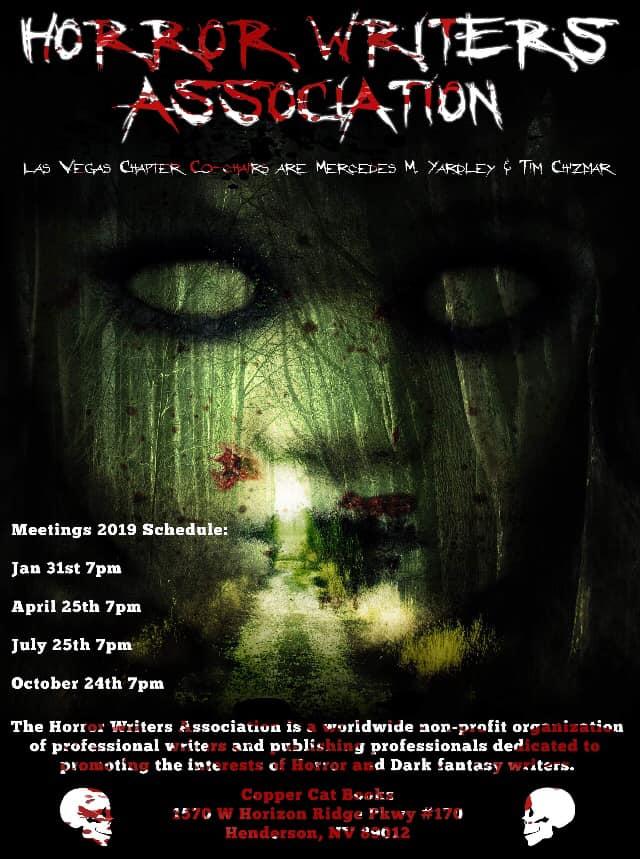 Las Vegas Horror Writers Association Meeting This Thursday!